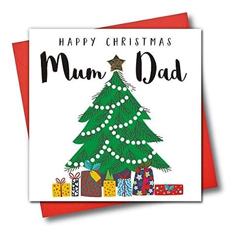 Tarjeta de felicitación de Navidad adornada con texto en ...