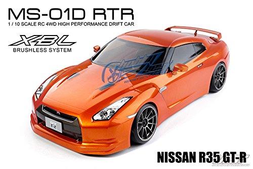11/15-12/25 X'mas Gift! MST MS-01D 1/10 4WD RTR 電動ドリフトカー (2.4G)(ブラシレス)(ボディNISSAN R35 GT-R オレンジ) [533005O] [並行輸入品] B07D8M2MJT