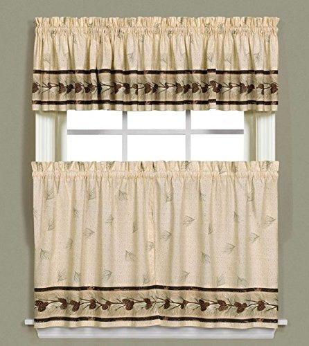 Saturday Knight Pinehaven Window Curtain Tier Pair, 57″ x 36″, Multicolored
