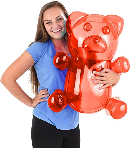 Gummy Bear Toy (Block Buster Costumes Delicious Candy Large Red Gummy Bear Animal Inflatable)