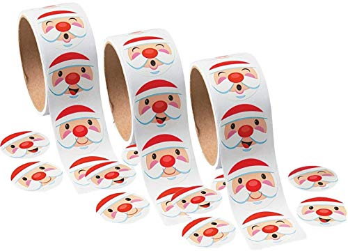 - Fun Express Christmas Holiday Santa Claus Face Stickers (300 Count)