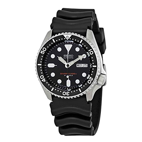 Seiko SKX007J1 Analog Japanese-Automatic  Black Rubber Diver's Watch 5 Superior Automatic Mens Watch