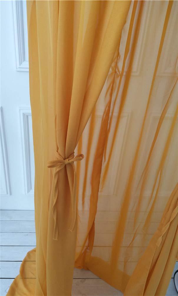 Hayisugar Bed Canopy Round Dome Chiffon Mosquito Net Kid S Reading Room Nursery Decorations Bedroom Decoration Yellow Mosquito Nets