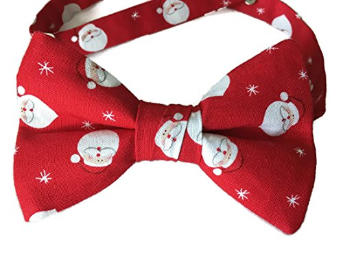 Santa Claus Pre-tied Red and White Bow Tie for the Holidays - Neckwear Holiday
