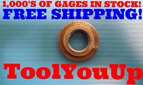 3/4 14 NPTF L2 PIPE THREAD RING GAGE .75 L-2 N.P.T.F. INSPECTION MACHINIST TOOLS