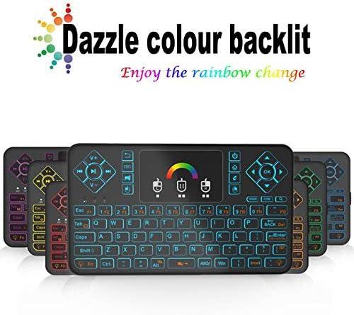 Color: Colorful backlight Calvas Q9 Mini keyboard 2.4GHz Wireless 433MHZ Mini Keyboard Colurful Backlight Touchpad For Android TV Box Computer TV Projectors