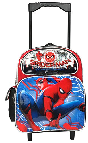 """Marvel Spiderman Home Coming 12"""" Toddler Mini Rolling Backpack"""
