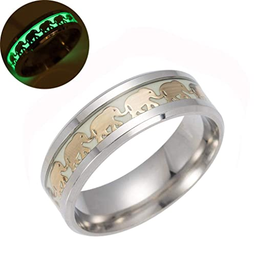 Amazon.com: Ennglun Fashion - Anillo de elefante luminoso ...