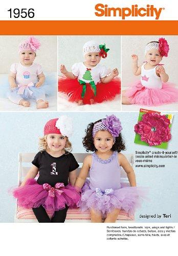 (Simplicity 1956 Babies Tutu and Appliques Designed by Teri Sizes: A (XS-S-M-L) (1-18 Months))
