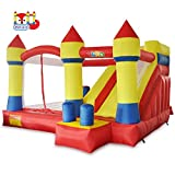 bounce house commercial - YARD Bounce House with Slide Obstacle Children Outdoor Jump Castle with Blower (13.1' x 12.5' x 8.2')