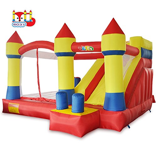 - YARD Bounce House with Slide Obstacle Children Outdoor Jump Castle with Blower (13.1' x 12.5' x 8.2')