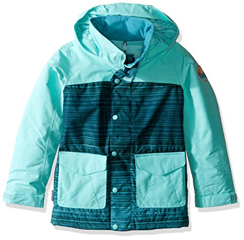 Burton Girls Elstar Parka Jacket, Tahoe Sunset Stripe/Aruba, X-Small ()