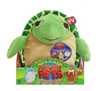 Pop Out Pets Ocean Reversible Plush Toy Get 3 Stuffed Animals in One - Turtle Dolphin & Walrus 8 in.