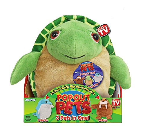 Pop Out Pets Ocean, Reversible Plush Toy, Get 3 Stuffed Anim
