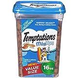 : TEMPTATIONS MixUps Treats for Cats SURFER'S DELIGHT Flavor 16 Ounces