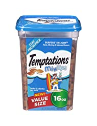 TEMPTATIONS MixUps Treats for Cats SURFER\'S DELIGHT Flavor 1...