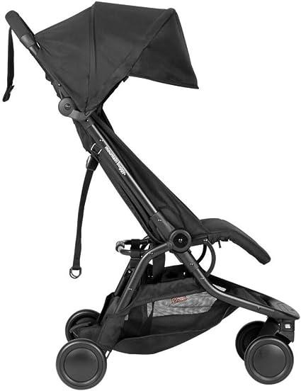 Mountain Buggy Nano V3 (2020+) Cochecito en color negro con bolsa de viaje