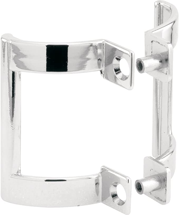 2-1//4 in. For Slide-Co 193130 Shower Door Handle Set Chrome Plated Diecast