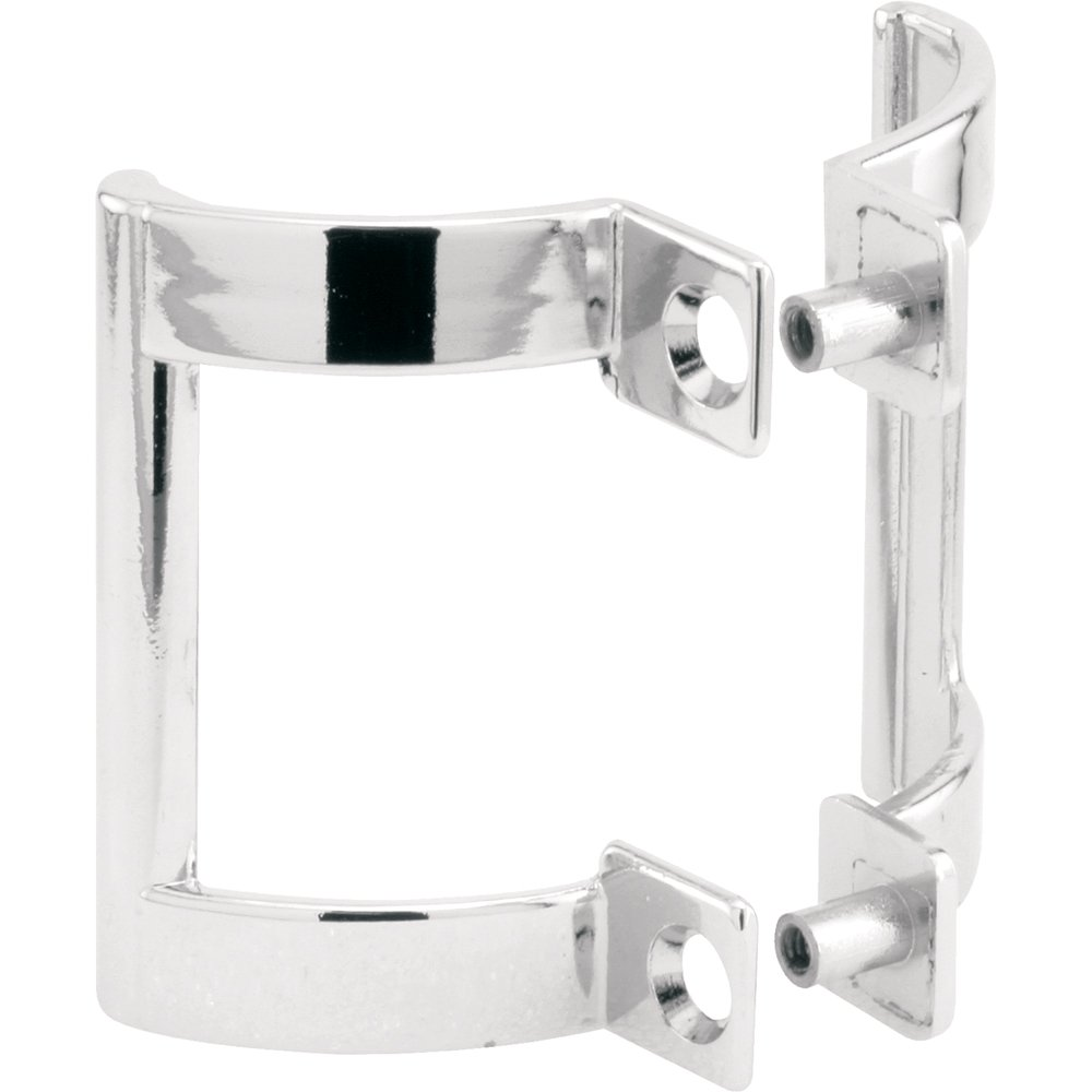 "Prime-Line M 6158 Shower Door Handle Set – Replace Handles on Tub Enclosure Sliding Doors and Swinging Shower Doors, Diecast Construction, 2"" Hole Center, Chrome Plated"