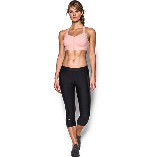 a46e624289d69 Under Armour Women's Eclipse High Impact Front Zip Sports Bra, Ballet Pink  (981)