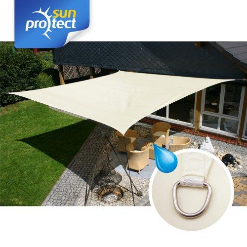 100% Zufriedenheitsgarantie zur Freigabe auswählen Entdecken sunprotect 83224 sunprotect Sonnensegel waterproof, 5 x 5 m, Quadrat, creme  (1 Stück)