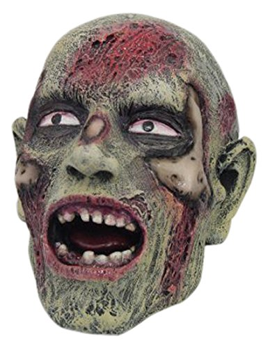 PTC Pacific Giftware Small Halloween Open Mouth Zombie Skull Resin Statue Figurine, 4
