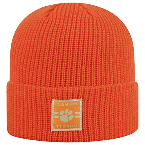 (Top of the World Clemson Tigers Official NCAA Cuffed Knit Incline Stocking Stretch Sock Hat Cap Beanie 483436)