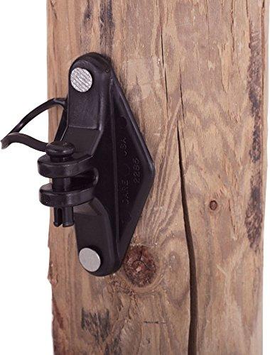 Dare PRODUCTS 183377 Wood Post Pinlock Insulator Black, 25 Pack