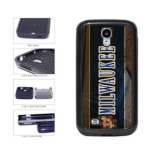 BleuReign(TM) Hashtag Milwaukee #Milwaukee Baseball Team 2-Piece Dual Layer Phone Case Back Cover For Samsung Galaxy S4 (Brewers Samsung Galaxy S4 Case)