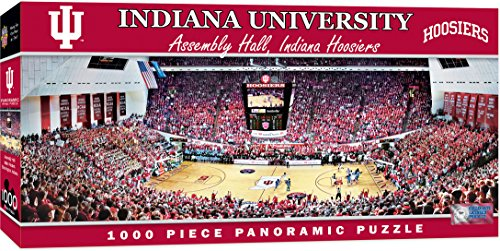 MasterPieces Collegiate Indiana Hoosiers 1000 Piece Stadium (Basketball) Panoramic Jigsaw (Indiana University Football Stadium)