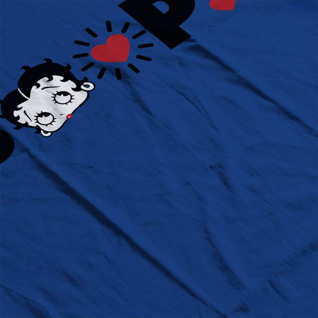 Betty Boop Heart Icons Mens Sweatshirt