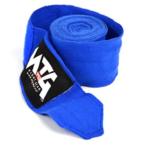 Blue MTG Pro 5m Elasticated Hand Wraps