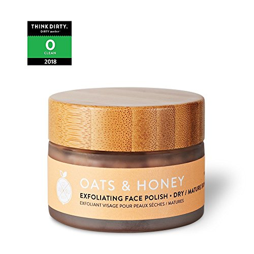 JUSU Body Oats & Honey Exfoliating Face Polish for Dry/Mature Skin - 100% Natural