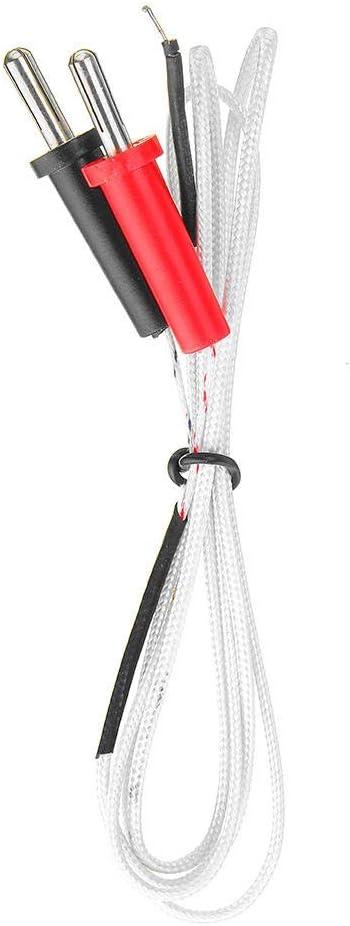 WUX698 Medidor de sonda de Temperatura TP-01A de termopar de Superficie Tipo K Tipo Banana for medir