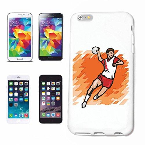 """Handyhülle iPhone 6S """"Handball Fussball Volleyball Basketball Sport"""" Hardcase Schutzhülle Handycover Smart Cover für Apple iPhone … in Weiß … Schlank und schön, das ist unser HardCase. Das Case wird m"""