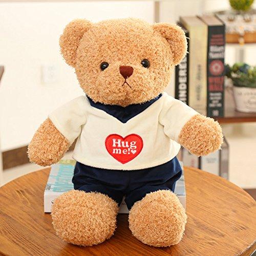 Lanlan Cute Stuffed Dressed Bear Plush Doll Toy for Halloween Christmas Birthday Gift Ornament Wedding Party Dressed male version; 38cm