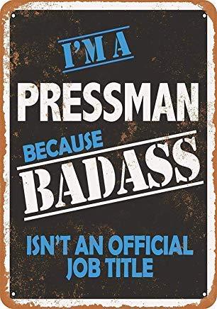 Froy Badass Pressman Cartel de Chapa de Pared Cartel de ...