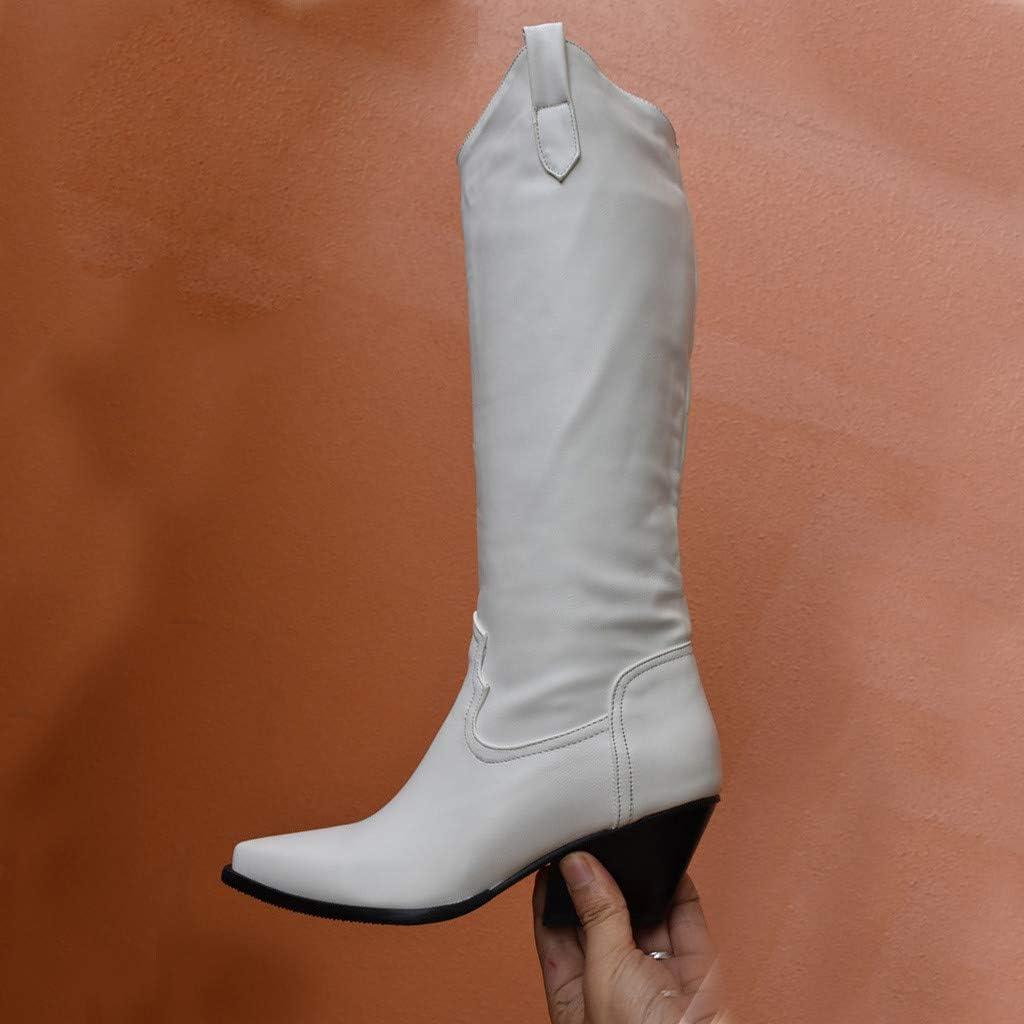 Femme PU cuir sculpté Bottines à lacets bout rond AUTOMNE Bloc Équitation Chaussures