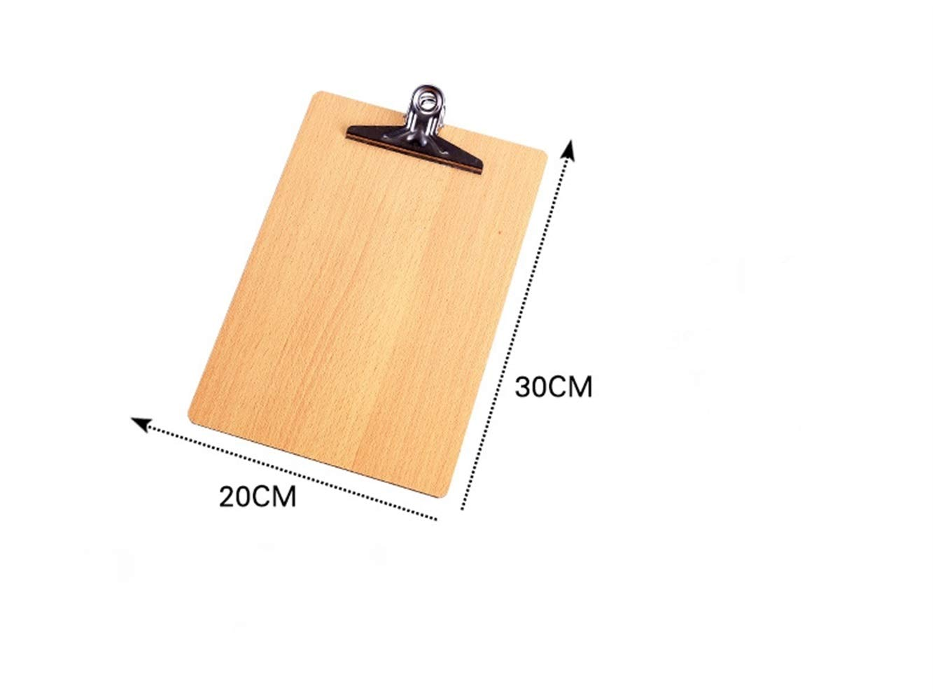 JxucTo A4 Wooden File Clipboard Rounded Corners Duty Clip Menu Board with Hanging Hole(Wooden) (Size : 16K_30x20cm)