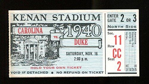 1940 North Carolina v Duke Football Ticket 18272