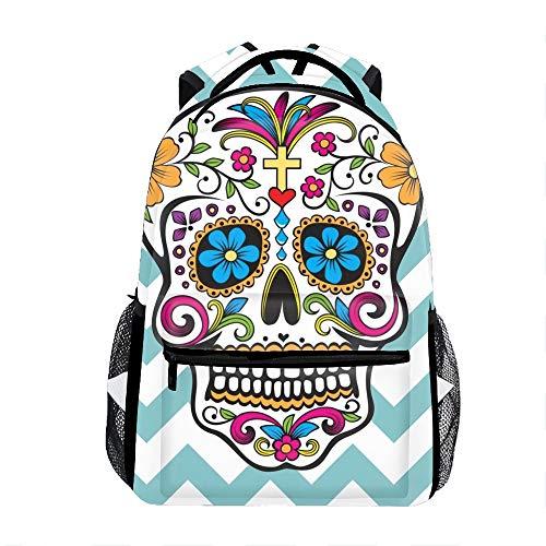 Pattern Yellow Cross (School bags Skull Of A Yellow Cross school backpack for girls Schoolbag backpacks for kids (10 Patterns))
