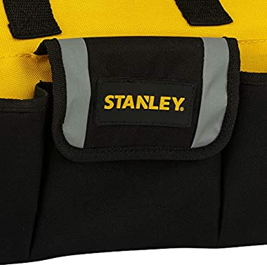 STANLEY STST512114 12'' Multipurpose Tools Storage Water Proof Open Mouth Bag (Yellow-Black) 10