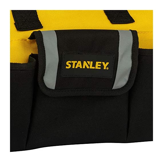 STANLEY STST512114 12'' Multipurpose Tools Storage Water Proof Open Mouth Bag (Yellow-Black) 3
