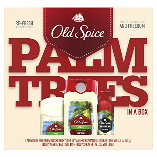 Old Spice Fiji Antiperspirant and Deodorant + Body Wash + Spray Gift Pack