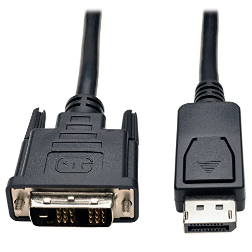 Tripp Lite DisplayPort to DVI Cable Adapter, DP with Latches, DP to DVI-D Single Link (M/M), DP2DVI, 6 ()