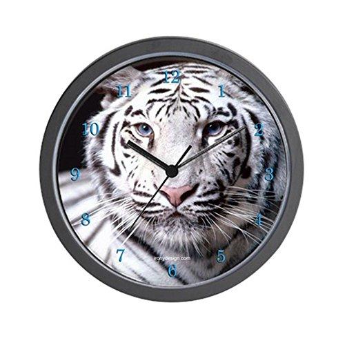 CafePress - White Bengal Tiger Wall Clock - Unique Decorative 10