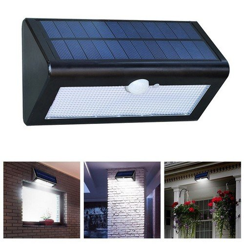 MakeTheOne Super Bright 38LED Solar Powered Motion Detector Wall Mount  Night Light ,Wireless Waterproof Exterior Security Solar LED Lighting