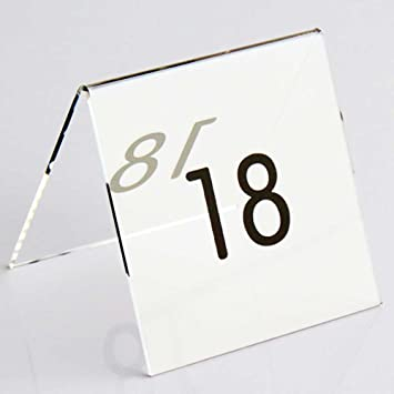 Airgoesin Pcs Tent Style Acrylic Table Numbers Wedding Restaurant - Table numbers restaurant supplies