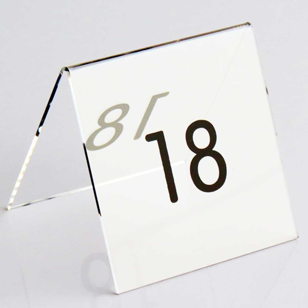 Airgoesin 30pcs Tent Style Acrylic Table Numbers Wedding Restaurant Cafe Office Sign Stand
