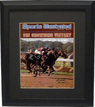Steve Cauthen Autographed Signed Belmont Horse Racing 16X20 Photo Custom Deluxe Framed Sports Illustrated Cover June 19, 1978 w 1978 Triple - Sports Illustrated Cover 1978